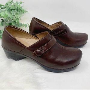 Dansko Solstice Brown Leather Clogs EU39